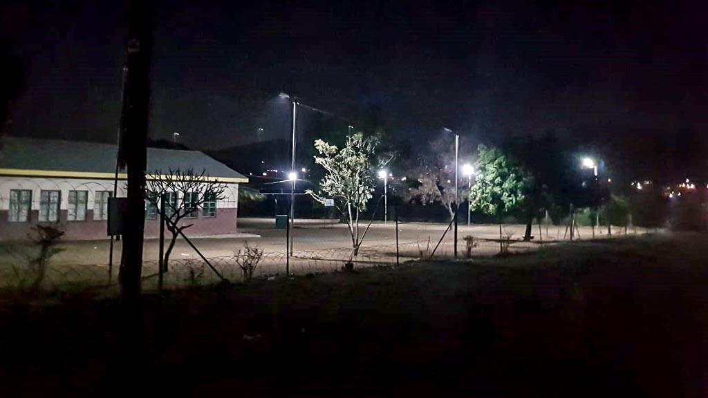 streetlight effect at night