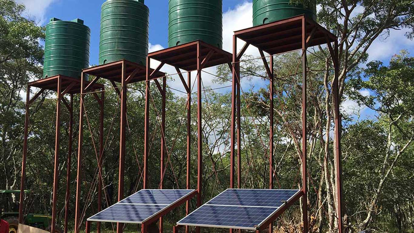 4kw Submersible Solar Water Pump System Zambia