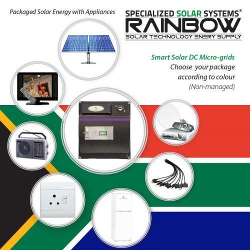 Rainbow Range Solar System with Appliances Kits