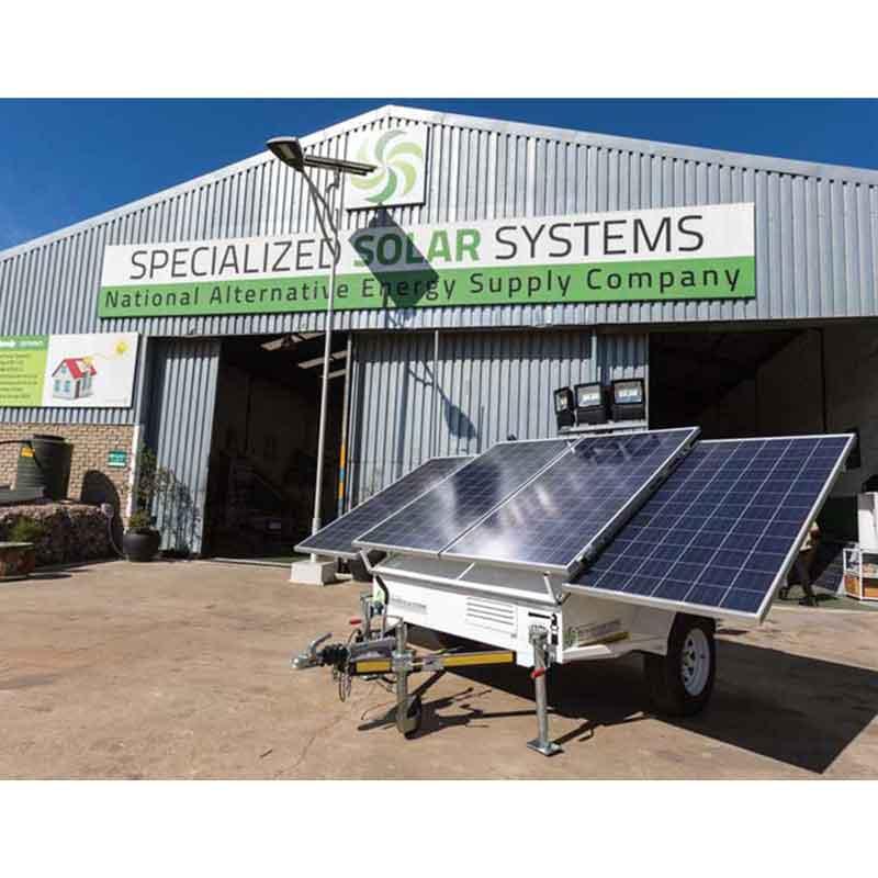 Mobile Solar Power Station-The Solar Sentry Trailer