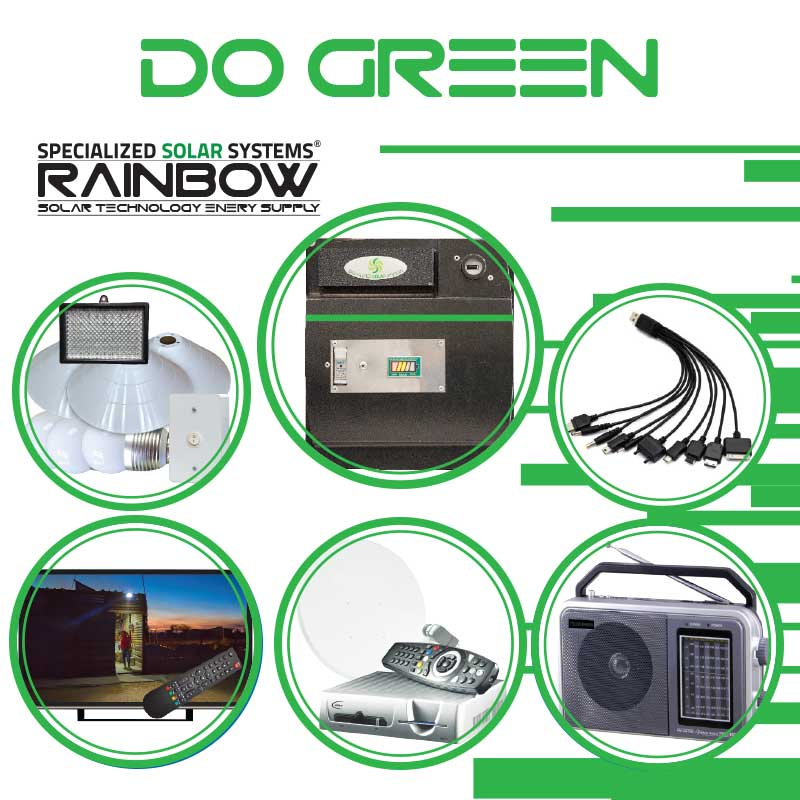 DO-GREEN Off-grid Solar System with Appliances Kit