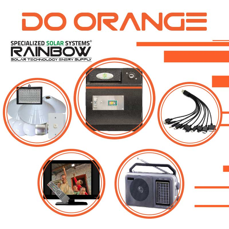 DO-ORANGE Off-grid Solar System with Appliances Kit
