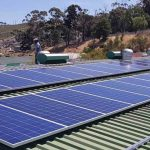 25kWp Grid-tied solar system installation - roof panels