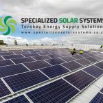 Roof top installation of a large grid tie solar system completed by Specialized Solar Systems in the Garden Route South Africa